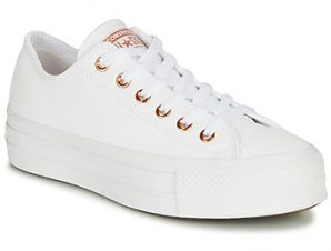 Xαμηλά Sneakers Converse CHUCK TAYLOR LIFT CLEAN CRAF LEATHER ΣΤΕΛΕΧΟΣ: Δέρμα & ΕΠΕΝΔΥΣΗ: Ύφασμα & ΕΣ. ΣΟΛΑ: Ύφασμα & ΕΞ. ΣΟΛΑ: Καουτσούκ