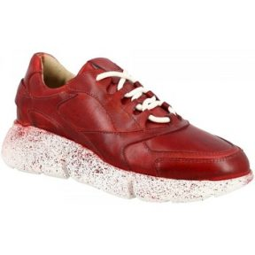 Xαμηλά Sneakers Leonardo Shoes CHARLOT-01 ROSSO SPRAY [COMPOSITION_COMPLETE]