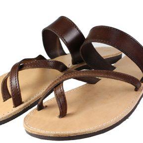 Handmade Sandals 114 Καφέ